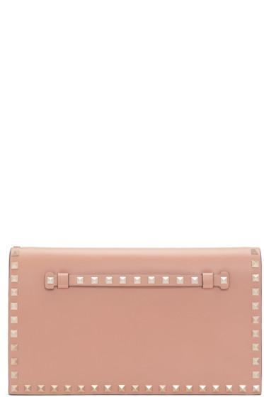 Valentino - Tan Leather Rockstud Clutch