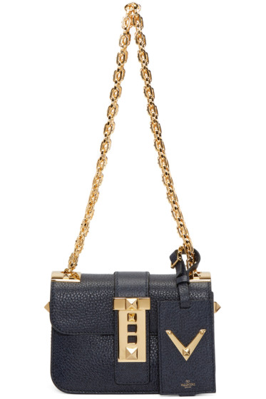 Valentino - Navy Rockstud Shoulder Bag