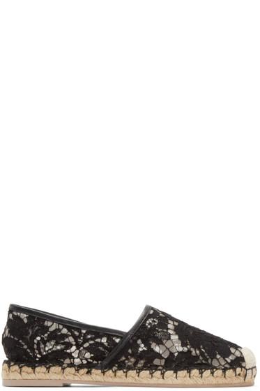 Valentino - Black Lace Espadrilles