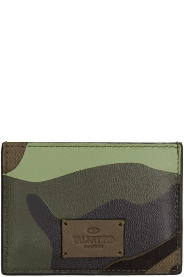 Valentino - Green Camouflage Card Holder