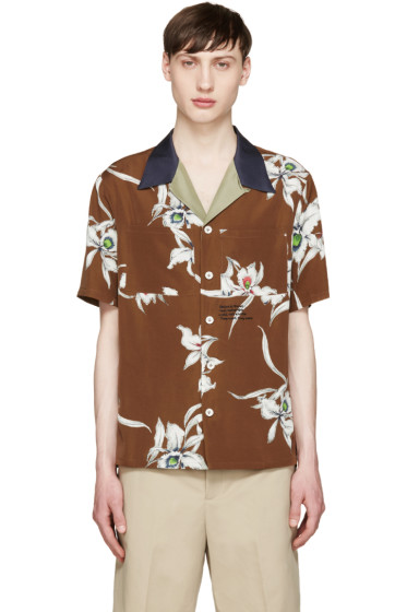 Valentino - Brown Floral Shirt