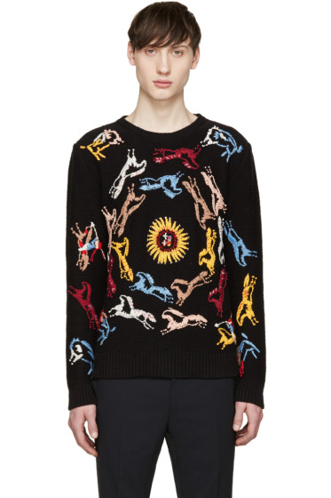 Valentino - Black Embroidered Sweater