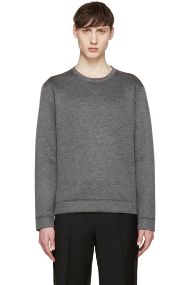 Valentino - Grey Neoprene Single Stud Pullover