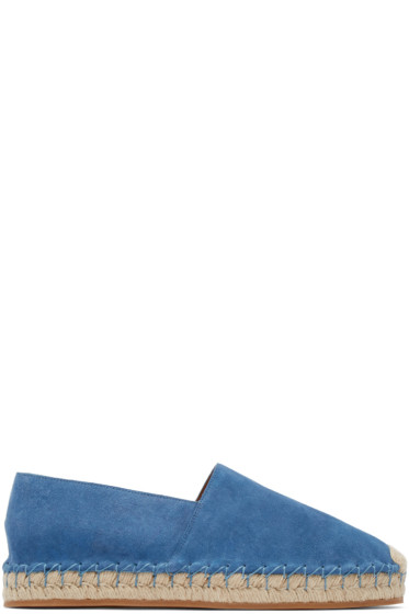 Valentino - Blue Suede Espadrilles