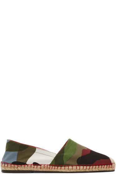 Valentino - Multicolor Canvas Camouflage Espadrilles