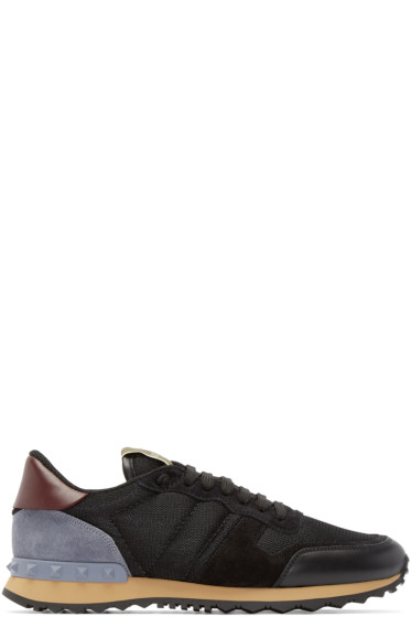 Valentino - Black Mesh Rockstud Sneakers