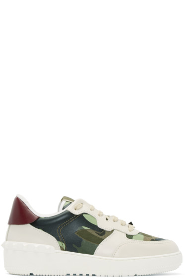 Valentino - Off-White Camouflage Rock Be Sneakers