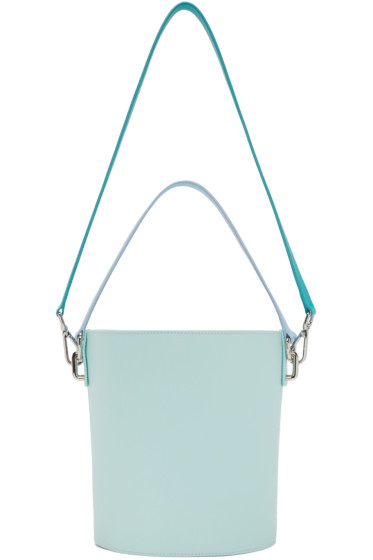 J.W.Anderson - Turquoise Leather Bucket Bag