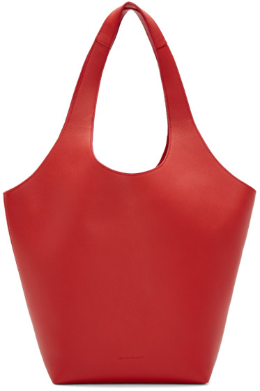 J.W.Anderson - Red Leather Basket Tote