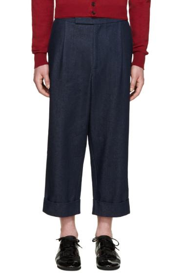 J.W.Anderson - Blue Wide-Leg Denim Trousers