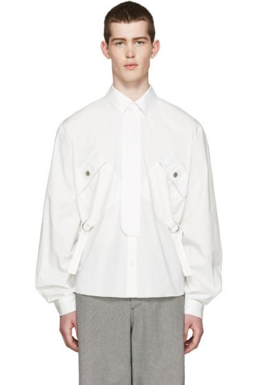 J.W.Anderson - White Cinch Strap Shirt