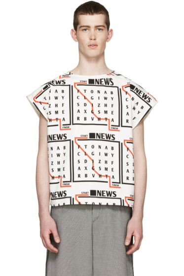J.W.Anderson - Tricolor News Text T-Shirt