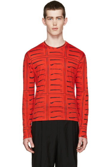 J.W.Anderson - Red Diagram T-Shirt