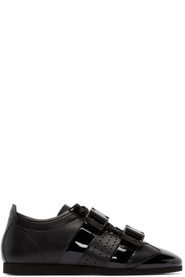 J.W.Anderson - Black Leather Buckle Sneakers
