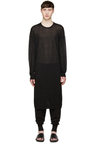 Thamanyah - Black Cashmere Long Sweater