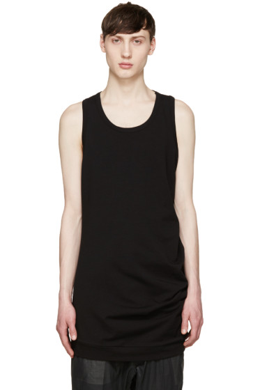 Thamanyah - Black Asymmetric Tank Top