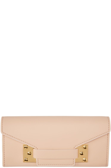 Sophie Hulme - Pink Leather Envelope Wallet