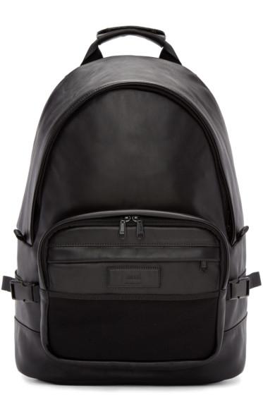 AMI Alexandre Mattiussi - Black Leather Backpack