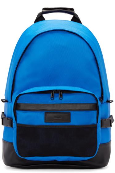 AMI Alexandre Mattiussi - Blue & Black Nylon Backpack