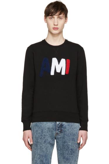 AMI Alexandre Mattiussi - Black Logo Sweatshirt