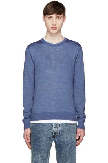 AMI Alexandre Mattiussi - Blue Merino Sweater