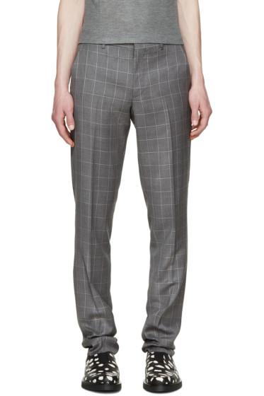 Paul Smith London - Grey Windowpane Check Trousers