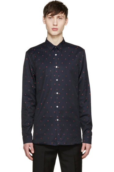 Paul Smith London - Black Strawberry Print Shirt