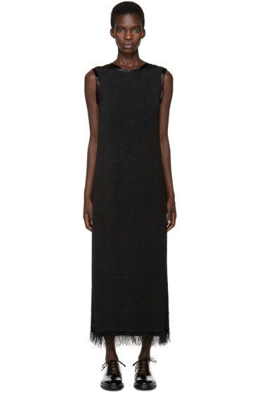 Calvin Klein Collection - Black Fringed Gaia Dress
