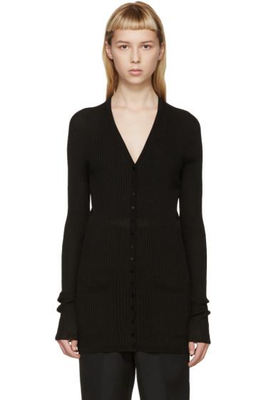 Calvin Klein Collection - Black Ribbed Wulan Cardigan
