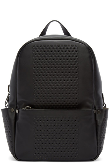 Calvin Klein Collection - Black Leather Perforated Medium Backpack