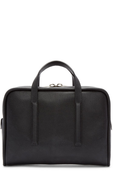 Calvin Klein Collection - Black Leather Commuter Briefcase