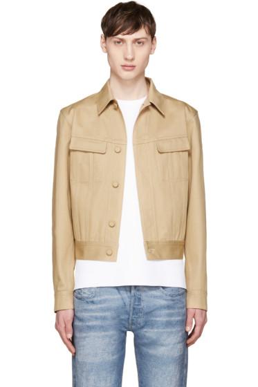 Calvin Klein Collection - Beige Cotton Twill Jacket