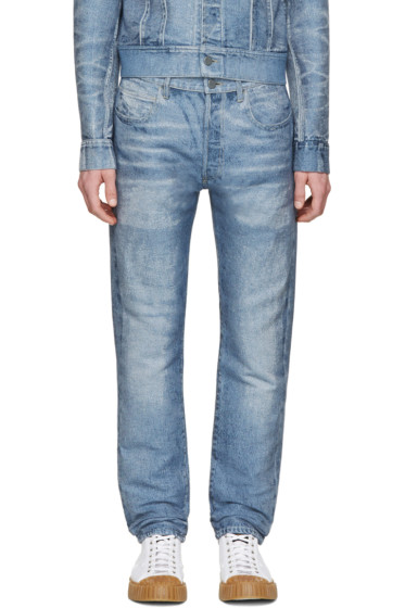 Calvin Klein Collection - Blue Distressed Jeans