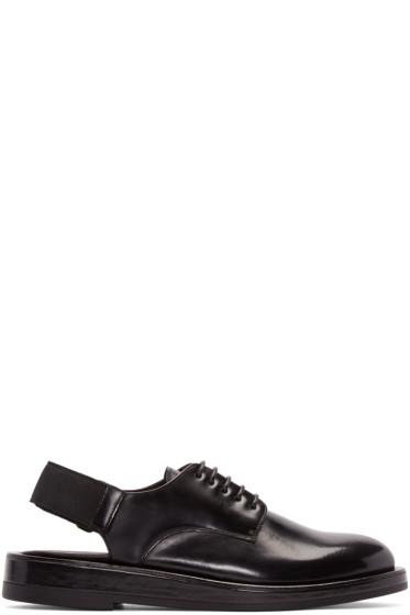 Calvin Klein Collection - Black Leather Slingback Derbys