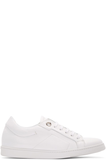 Calvin Klein Collection - White Leather Eyelet Sneakers