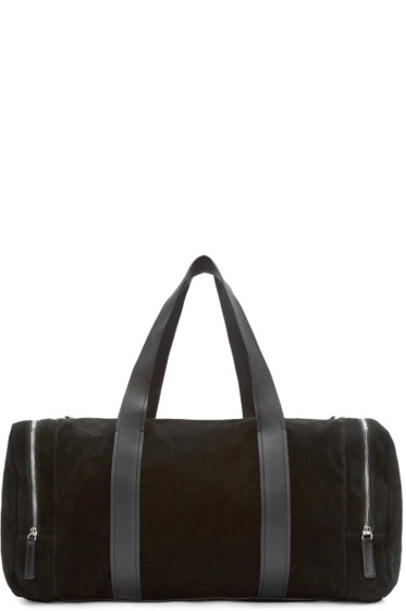 Costume National - Black Suede Duffle Bag