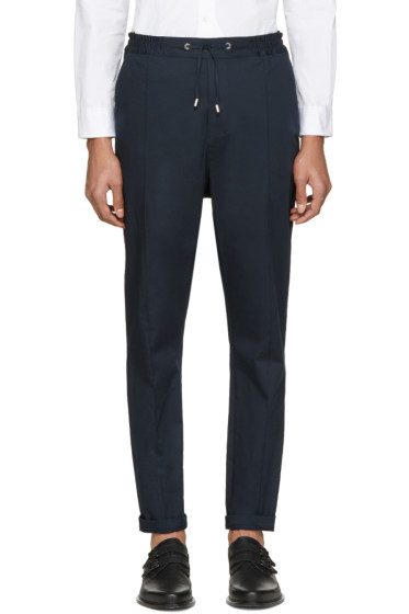 Costume National - Navy Drawstring Trousers