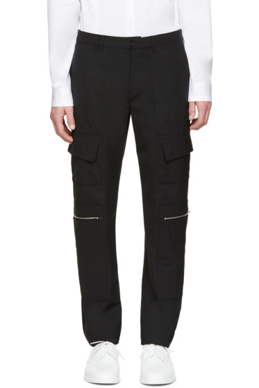 Tim Coppens - Black Wool Patch Trousers