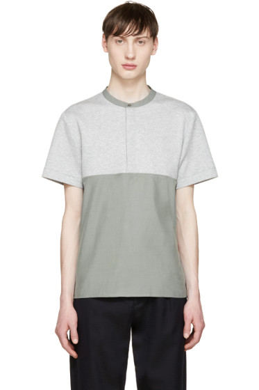 Tim Coppens - Grey & Green Woven Henley