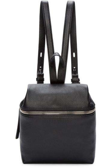 Kara - Black Pebbled Leather Small Backpack