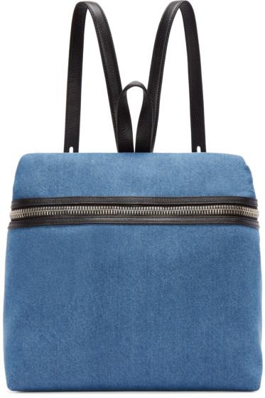 Kara - SSENSE Exclusive Blue Denim Backpack