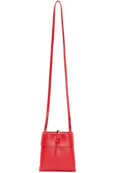 Kara - Red Leather Nano Tie Crossbody Bag