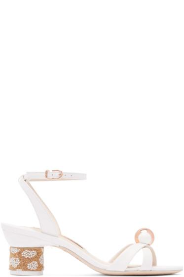 Sophia Webster - White Leather Loren Sandals