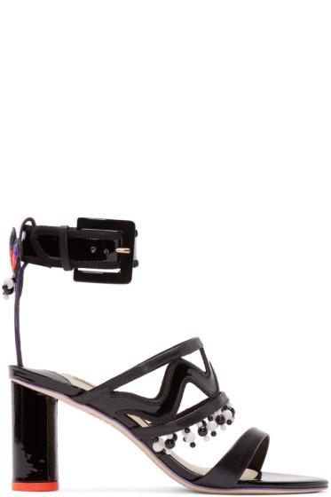 Sophia Webster - Black Leather Mereida Sandals