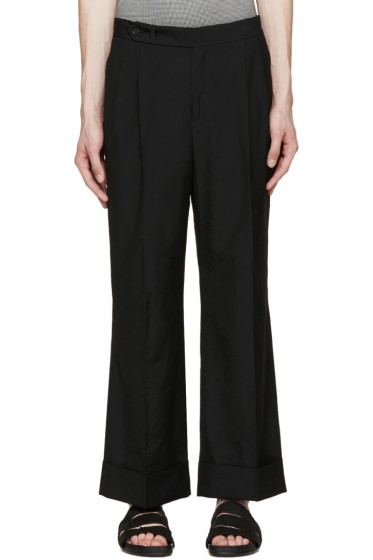 Yang Li - Black Wide Cropped Trousers