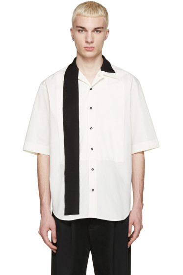 Yang Li - Off-White Ribbon Shirt