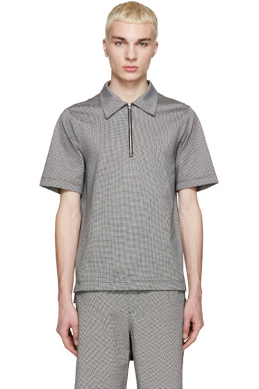 Yang Li - Black & White Houndstooth Polo