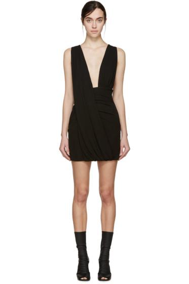 Anthony Vaccarello - Black Draped Jersey Dress