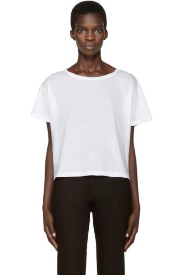 Anthony Vaccarello - White Boatneck T-Shirt