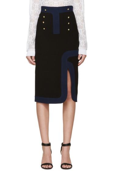 Peter Pilotto - Black Wool Track Skirt
